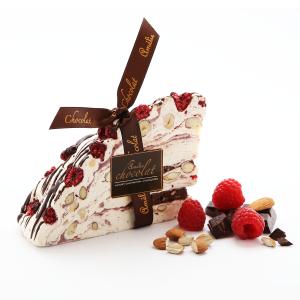 Raspberry and Chocolate Italian Nougat