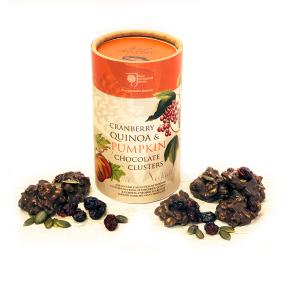 RHS Cranberry & Pumpkin Chocolate Clusters